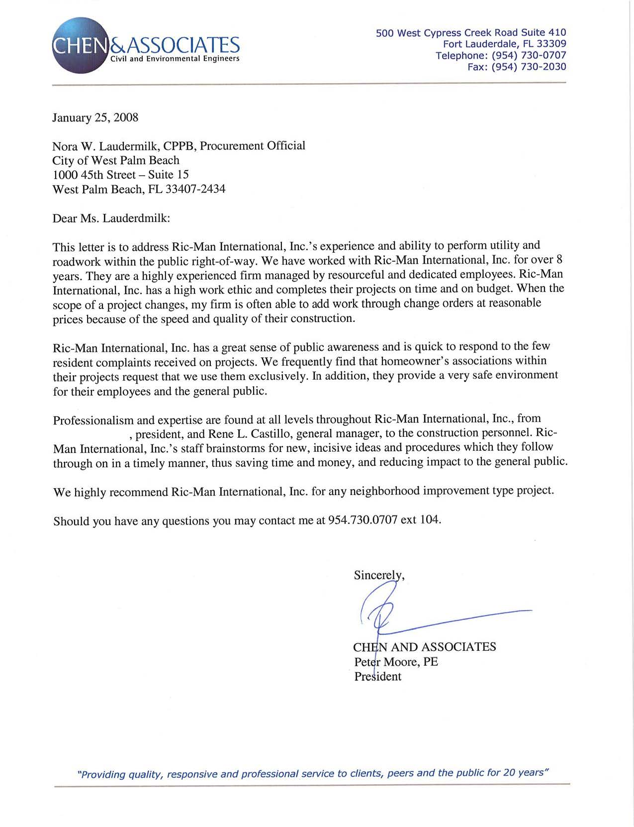 Click here to view the letter from Chen & Associates