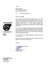 Click here to view the letter from Creaven Thompson & Associates