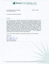Click here to view the letter from Nova Consulting, Inc.