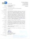 Click here to view the letter from Armando Rubio