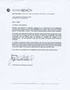 Click here to view the letter from City of Miami Beach