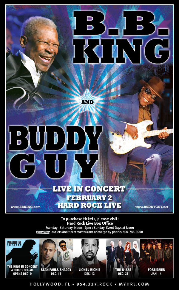 BB King & Buddy Guy at the Seminole Hard Rock!