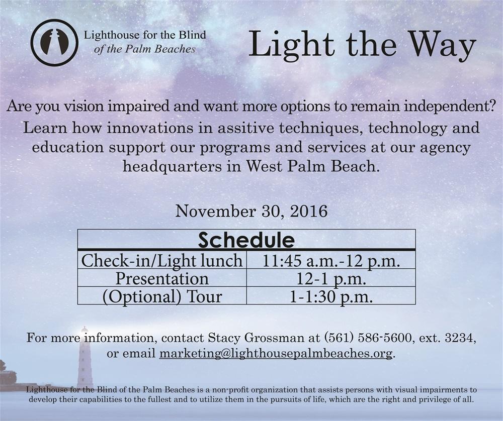 November 30, 2016 Light the Way invitation