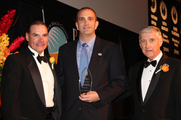 From left to right: Donald Dufresne, President; Jeff Zipper, Lois Kwasman Award Recipient and Gerry Baron, Executive Director. Not pictured here Michael Brady, Lois Kwasman Award Recipient.